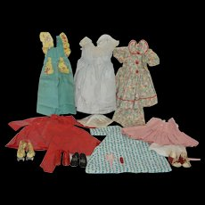 """1940-50's Wardrobe for 18""""-20"""" Flat Footed Doll"""