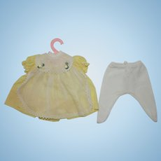 """1960's 12"""" Teenie Tiny Tears Buttons and Bows outfit"""