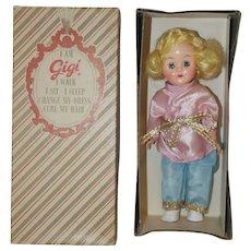 "1950's GiGi 8"" Doll in Lounge Wear- MIB"