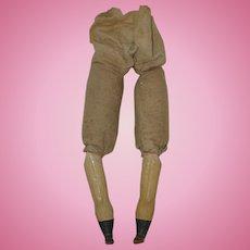 Antique Paper Mache Legs for your Antique Doll