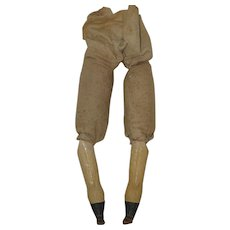 Antique Paper Mache Legs for your Antique Doll