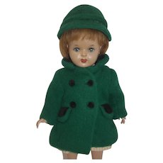 1940-50's Mariquita Perez Tagged Green Wool Coat and Hat - RARE!
