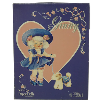 1984 Vogue Ginny Paper Dolls - MIB - First Edition