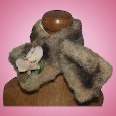 1950's Faux Fur Cape