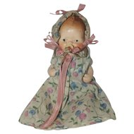 "German 4"" All Bisque Baby with Pacifier"