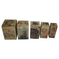 Victorian Children's Picture Nesting Blocks by Sam'l Gabriel Sons & co. NewYork