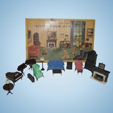 1950's Ideal Living Room Furniture in original Box