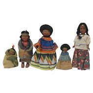 Vintage Skookum, Seminole Indian Dolls