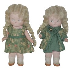 "Pair of 5"" Painted Bisque German Dolls"