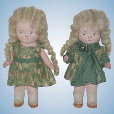 "Pair of 5"" Painted Bisque German Dolls"