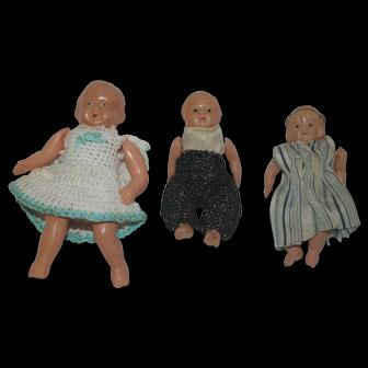 Three Celluloid Mini Dolls - Japan