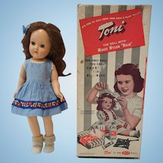 "1950's P-90 14"" Ideal Toni Doll with Original Box"