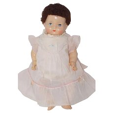 """Tagged 1940's Effanbee Dy-Dee Baby Embroidered Dress for 20"""" doll"""