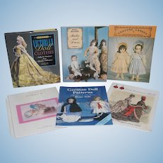 Sewing books x 6 - Costuming, Hats, etc for Dolls