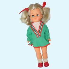 1960's Vinyl Pig-Tailed Doll