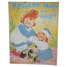 1944 Raggedy Ann and Andy Paper Dolls by Saalfield Publishing