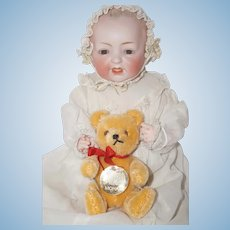 "Hermann West-Germany 5"" Golden Mohair Bear - fully jointed"