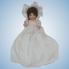 """9"""" Nippon Baby Doll in White Gown"""