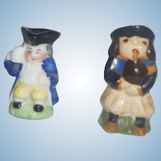 """German and French Face Mugs - 1 1/2"""" tall"""