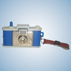 Blue Plastic Camera with 14 Pa. Dutch Images