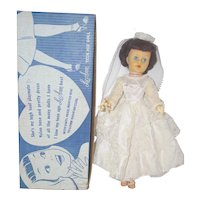 1950's LuAnn Bride Fashion Doll with Sweetheart Anklet - in orig. box