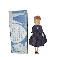 1950's LuAnn Fashion Doll in Blue Day Dress with Sweetheart Anklet - in original box