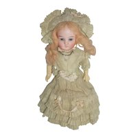 "8 1/2"" German Doll in Original Southern Belle outfit - marked 4418"