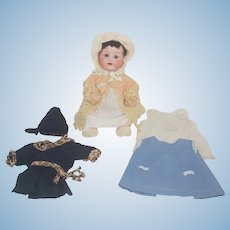 "13"" Armand Marseille 990 Infant with wardrobe"