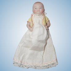 "4"" Bye-Lo Bisque Baby in Christening Dress"