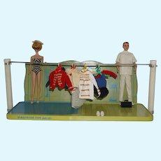 1963 Mattel Barbie Ken Metal Display Shelf by Shore Calnevar inc. of Paramount, Ca.