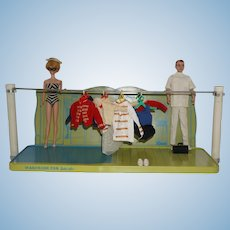 1963 Mattel Barbie Ken Metal Display Shelf by Shore Calnevar inc. of Paramount, Ca.