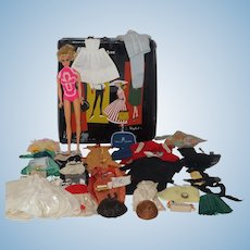 1960's Mattel Twist and Turn Barbie, Trunk, Clothes, Accessories