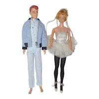1960's Mattel Allan and Skipper Dolls