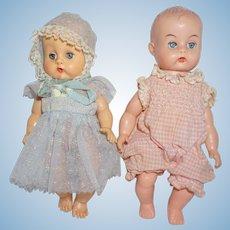 """Two 1950's 8"""" vinyl Baby Dolls"""