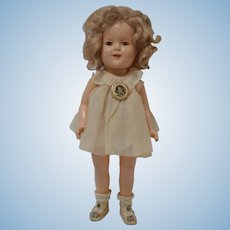 """1930's 15"""" Shirley Temple in Curly Top outfit - all original"""