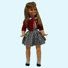 "1961 Ideal 29"" Miss Ideal Doll with twist waist - all original"