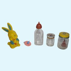 Dy-Dee Bottle, Dolle pacifier, Dolle Milk, Dolle Sterilizer, Bunny Rattle