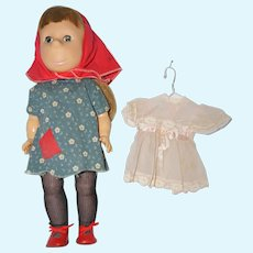 "1963 18"" Horsman Pitiful Pearl Doll and extra Dress"