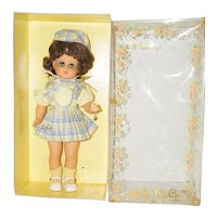 """1960's French 14"""" GeGe Doll in Original Box"""