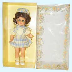 "1960's French 14"" GeGe Doll in Original Box"