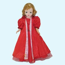 1950's Red Evening Gown and Cape for Cissy, Revlon,etc