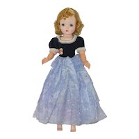 1950's Black Velvet and Purple Evening Gown - fits Cissy, Revlon, etc