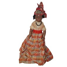 """10"""" Unis France Ethnic Doll - Painted Bisque - All Original"""
