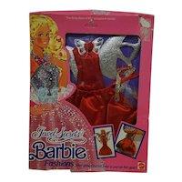 1986 Mattel Barbie Jewel Secrets Red outfit - NRFP