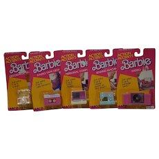 1987 Mattel Barbie Action Accents x 5 - NRFP