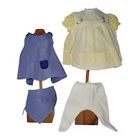 """1960's 12"""" Teenie Tiny Tears Button and Bows and Jumper and Scarf outfits"""
