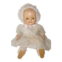"""1930's 16"""" Composition Baby Doll in Original Outfit"""