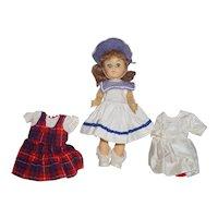 1950's SLW Virga Doll - all orig. with additional wardrobe