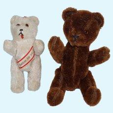 "5"" White Berlin Bear and 7"" Mohair Bear"