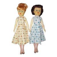 "1950's 18"" BKW Fashion Doll Sisters"